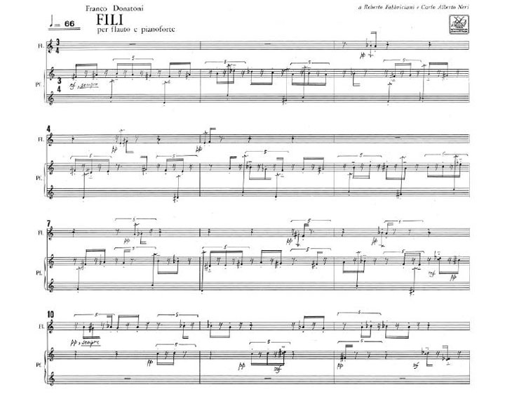 Fili for Flute and Piano