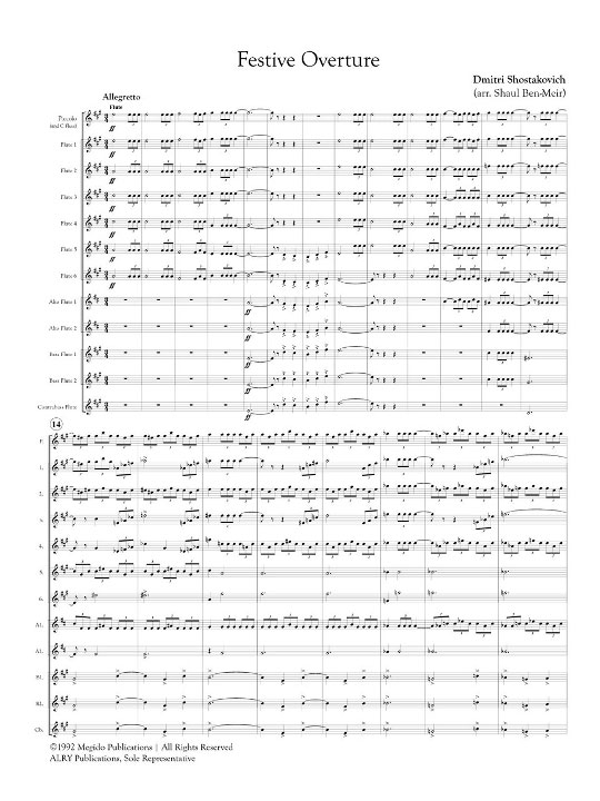 Festive Overture Page 1
