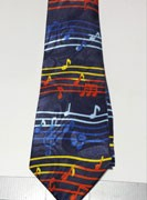 Neck Tie - Multi Color Music Notes
