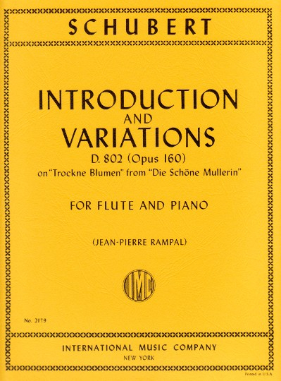 Schubert, F :: Introduction and Variations D. 802 (op. 160)