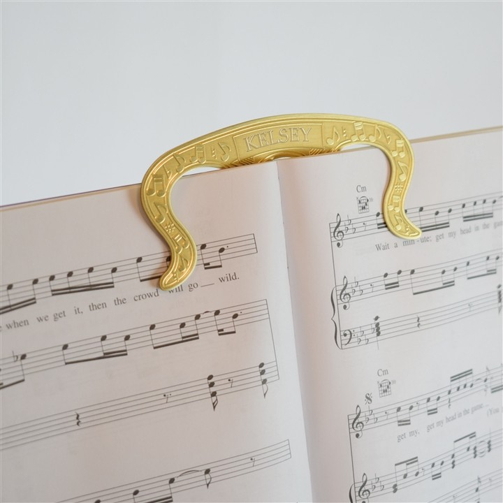 Music and Page Holder (Embossed Brass)