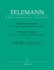 Telemann, GP :: Methodische Sonaten [Methodical Sonatas] Vol. III