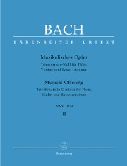 Bach, JS :: Musikalisches Opfer [Musical Offering] Volume II - Trio Sonata in C minor BWV 1079
