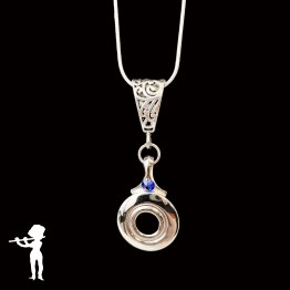 Necklace - Open Hole Key with Tiny Neck Crystal